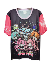 Load image into Gallery viewer, SDVX 5 VIVID WAVE CHIBI DARK SHIRT