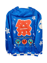 Load image into Gallery viewer, TAIKO BLUE ZIPPER HOODIE
