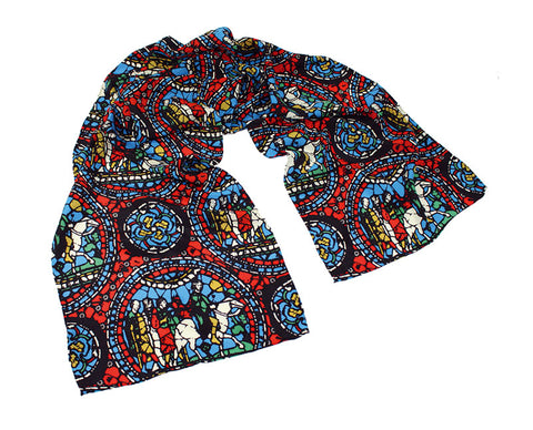 Stained Glass WIndow Crêpe de Chine Scarf