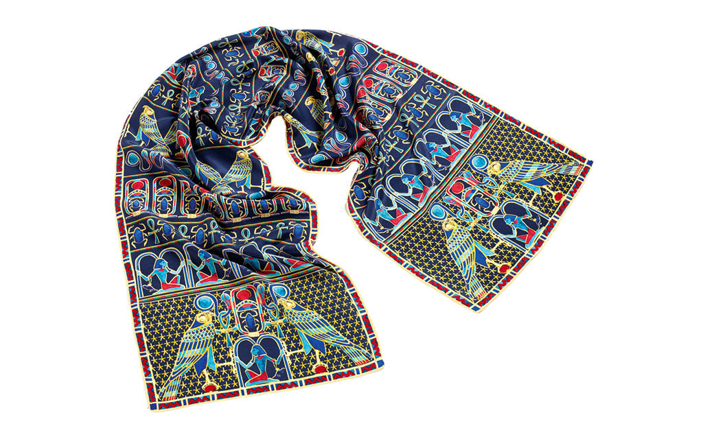 Egyptian Falcon Crêpe de Chine Scarf