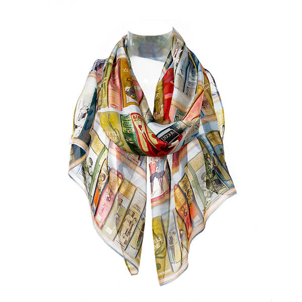 Booklovers Silk Chiffon Scarf