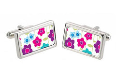 Hot Meadow Flowers Cuff Links