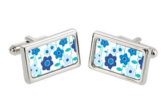 Cool Meadow Flowers Cuff Links