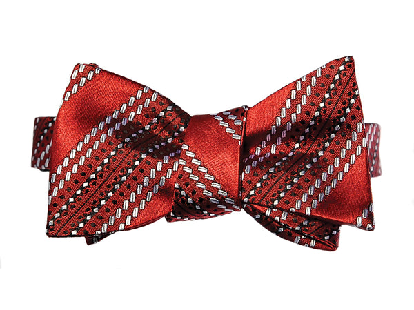 Cricket Ball Seam Silk Bow Tie