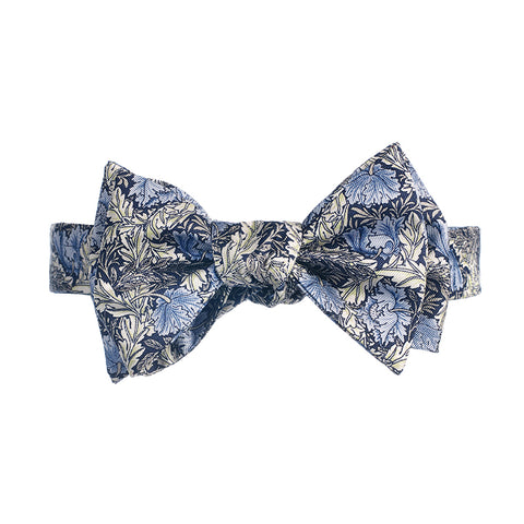 Morris Blue Poppy Silk Bow Tie