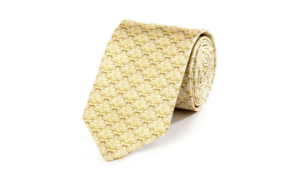 Da Vinci Grouse Silk Tie