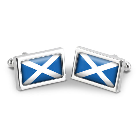 Scottish Saltire Cuff Links