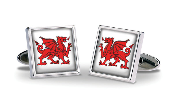 Welsh Dragon Cuff Links