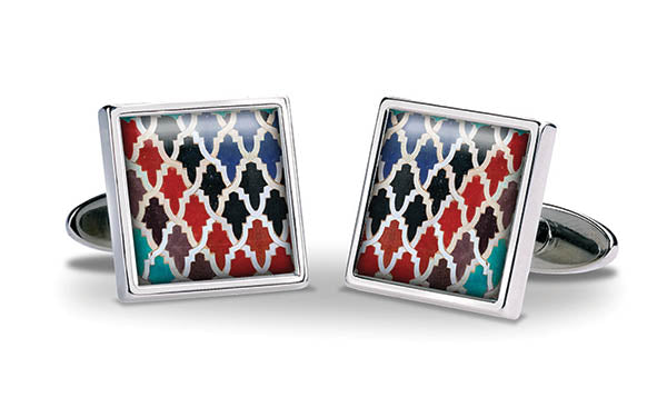 Marrakesh Zellige Cuff Links