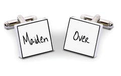 Maiden Over Bone China Cuff Links