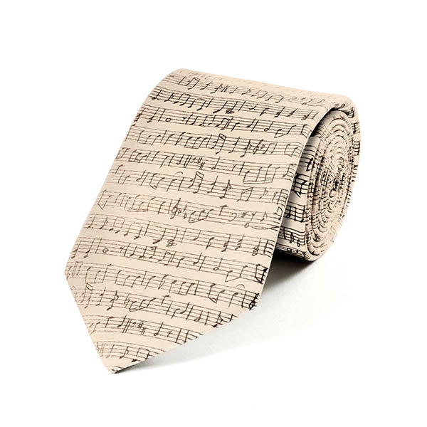 Music Sheet Silk Tie