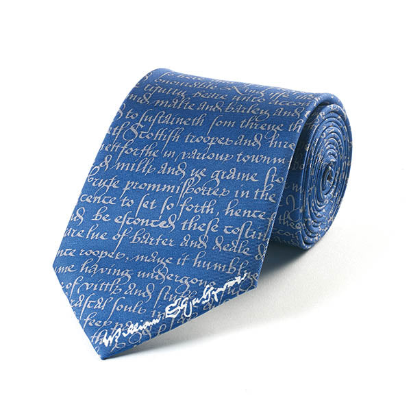 Shakespeare Manuscript Silk Tie