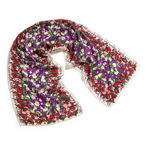 Shakespeare's Flowers Crepe de Chine Scarf