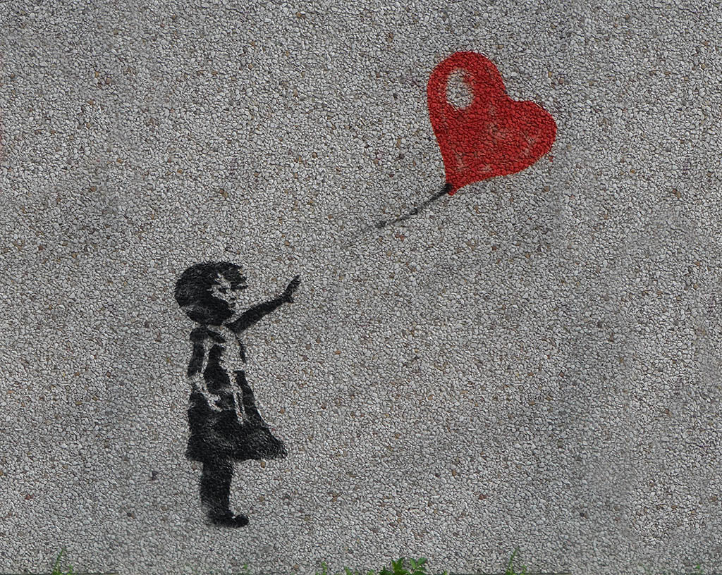 Banksy - Girl with Balloon Mural