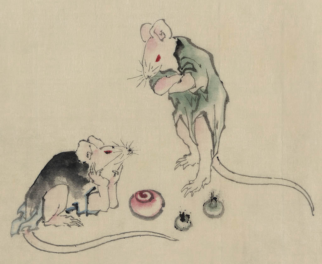 Mice in Council by Hokusai