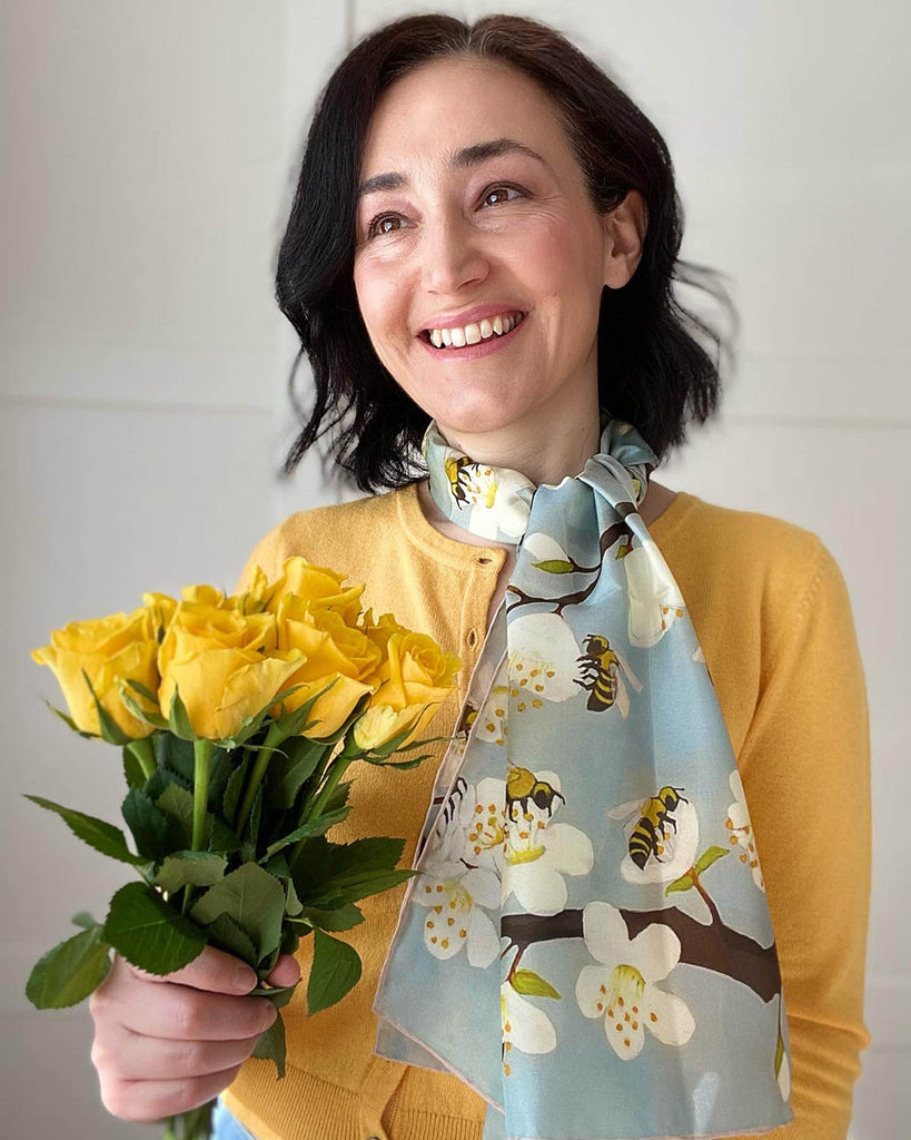 Bees & Blossom Scarf