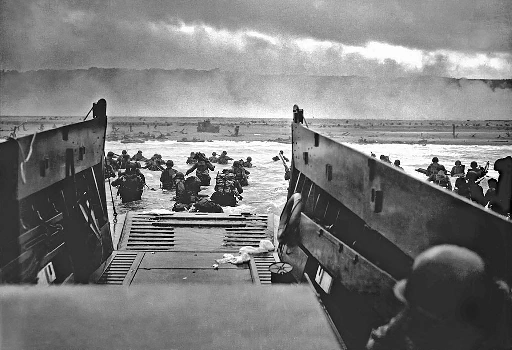 Landing in Normandy on D-Day