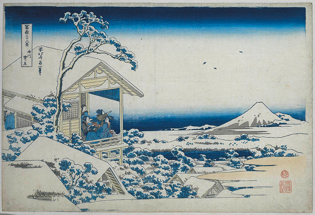 View of Mount Fuji by Hokusai