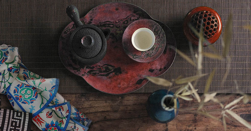 Silk Scarves and Chinese teacup