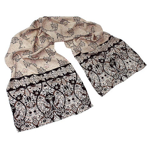 Morris Natural Mix Crêpe de Chine Scarf