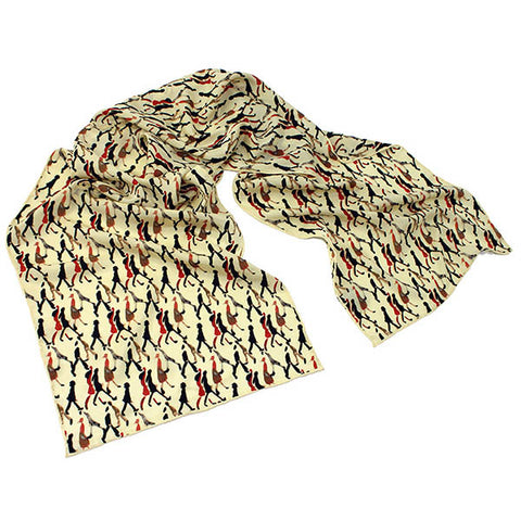 Going to Work Cream Crêpe de Chine Scarf