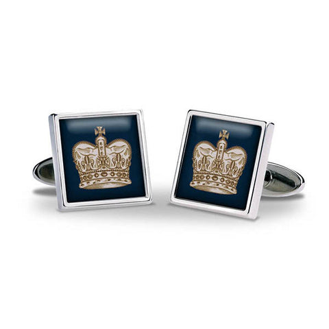 Crown Navy Cuff Links