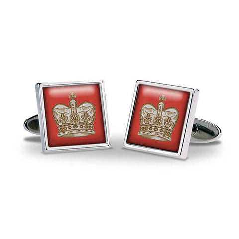 Crown Red Cuff Links