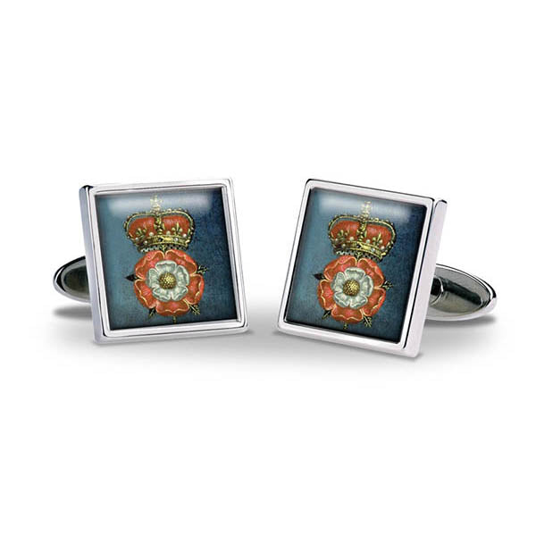 Tudor Rose & Crown Cuff Links