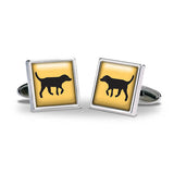 Black Lab Gold Cuff Links