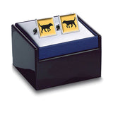 Black Lab Gold Cuff Links Boxed