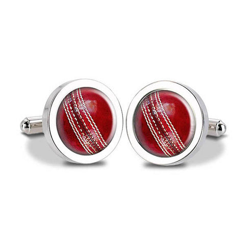 Cricket Ball Cuff Links