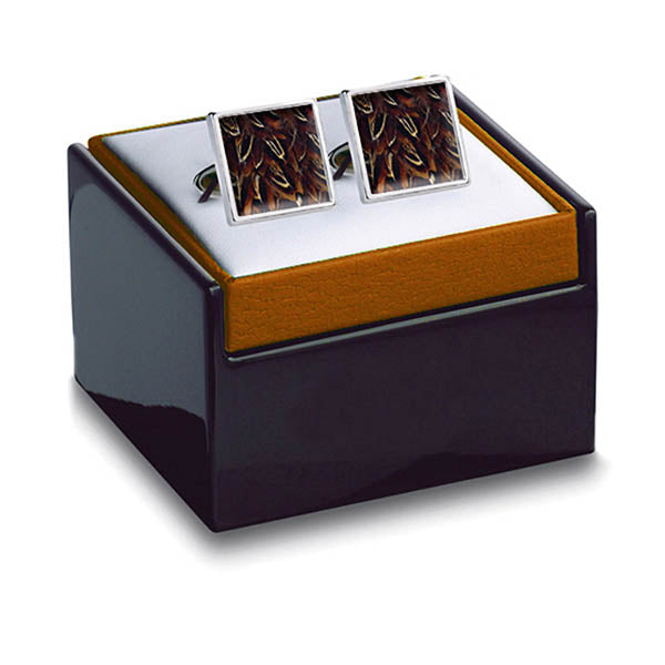 Pheasant Feathers Cuff Links Boxed