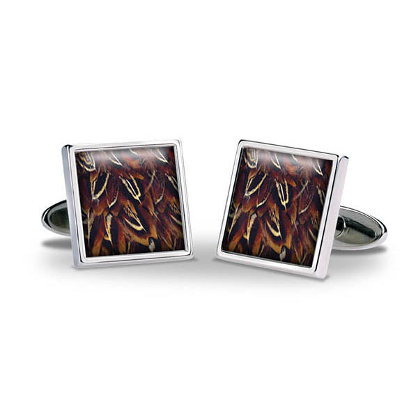 Pheasant Feathers Cuff Links