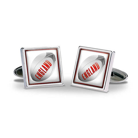Rugby Ball - England Cuff Links