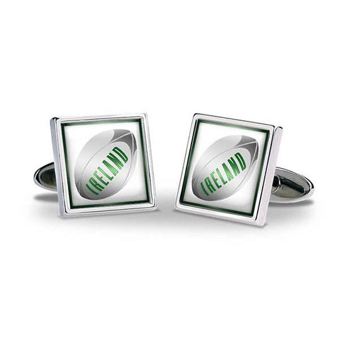 Rugby Ball - Ireland Cuff Links