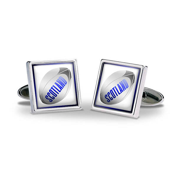 Rugby Ball - Scotland Cuff Links