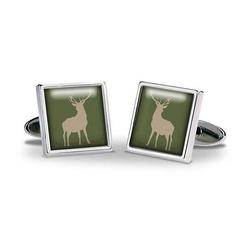 Stag Green Cuff Links