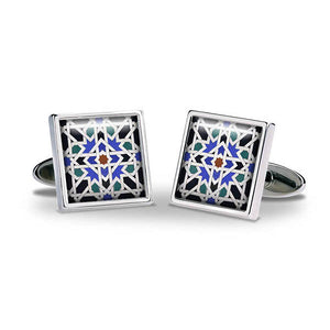 Alhambra Geometric Cuff Links