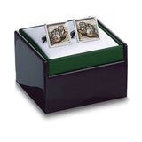Byzantine Mosaic Frog Cuff Links in box