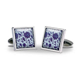 Chinese Flower Cuff Links