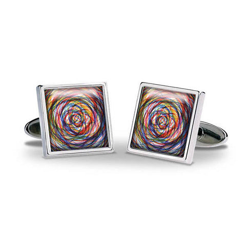 Colour Swirl Cuff Links