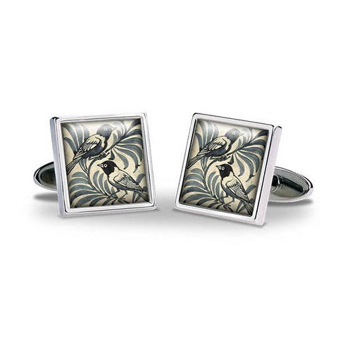 De Morgan Birds Cuff Links