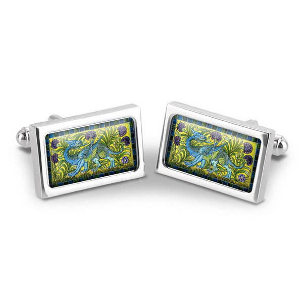 De Morgan Blue Dragon Cuff Links