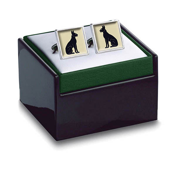 Egyptian Cats Cuff Links in box