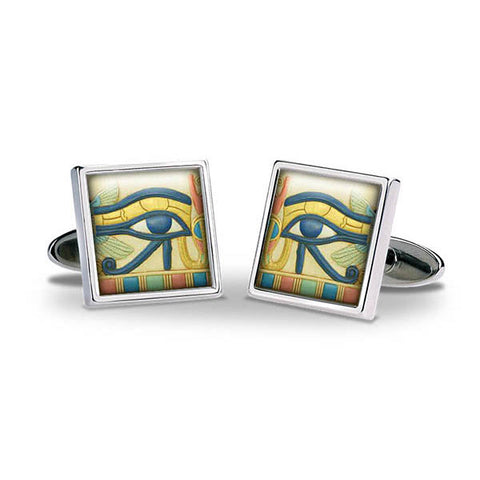 Egyptian Eye of Horus Cuff Links