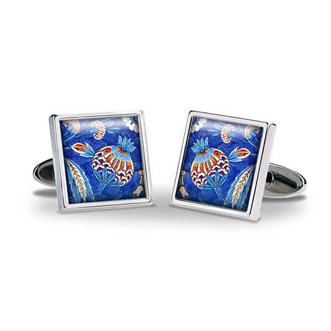 Iznik Flower Blue Cuff Links