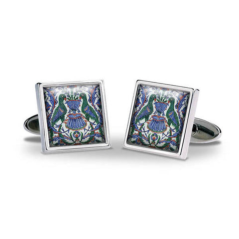 Iznik Parrots Cuff Links