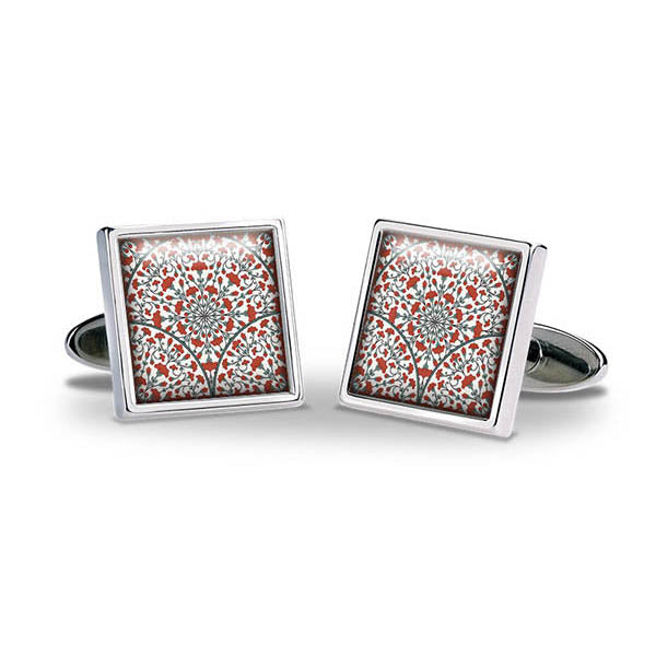 Iznik Tile Red Cuff Links