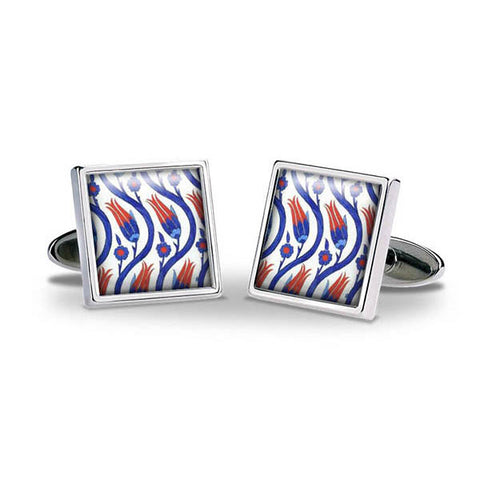 Iznik Tulips Cuff Links