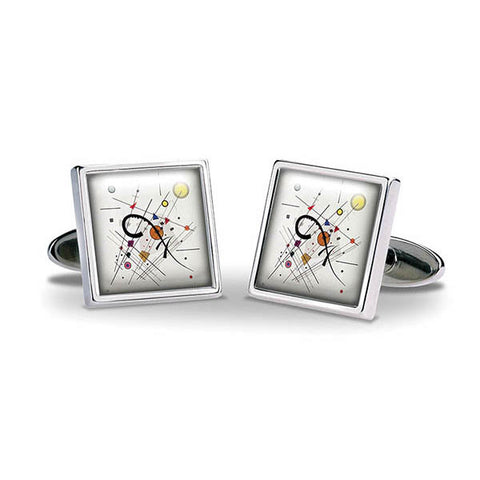 Kandinsky Grey Square Cuff Links